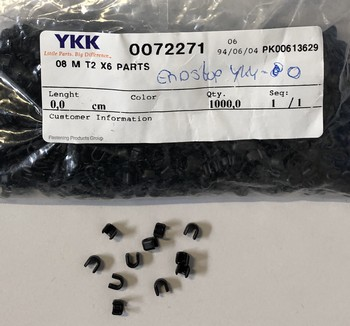 Endstops YKK black for 8 mm nylon-Metal Zippers, 100 pcs, Black