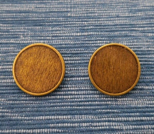 Button Metal 21mm, Brass colour