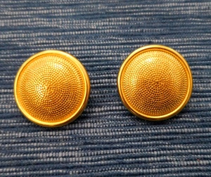 Button Metal 23-24mm, Goldcolour with Dot structure