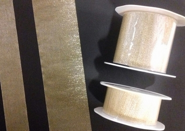 Metallic lurex ribbon 38 mm x 25 Mtr., Gold
