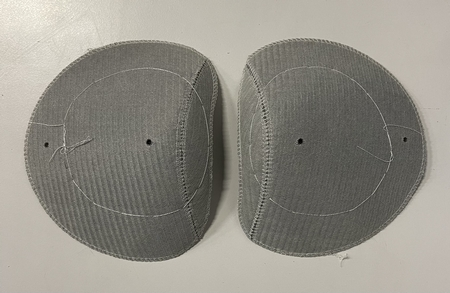 Shoulderpads Raglan with head Small, Light grey, per 10 pair