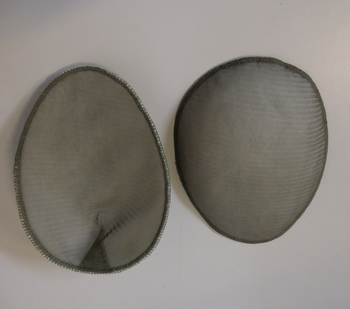 Shoulderpads Raglan oval round side Small, Light Green, per 10 p