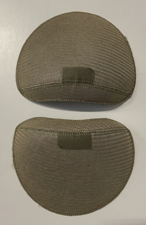Shoulderpads Raglan with head Small, Olive, per 10 pair