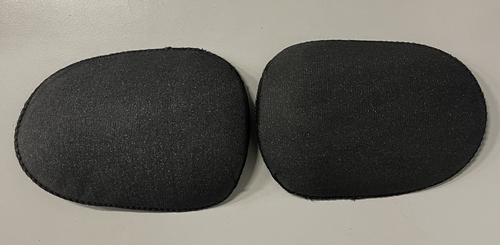 Shoulderpads Raglan oval large, Black, per 10 p