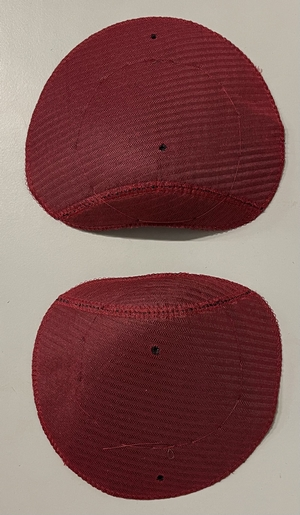 Shoulderpads Raglan with head Small, Red, per 10 pair