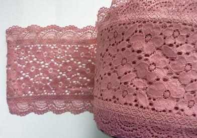 Stretch Lace 'Luxury' nr 189/17cm (10 m), Old Pink