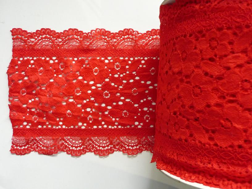 Stretch Lace 'Luxury' nr 189/17cm (10 m), Red