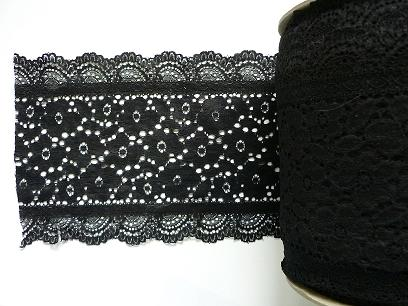 Stretch Lace 'Luxury' nr 189/17cm (10 m), Black