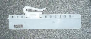Insteekhaak kunststof verstelbaar/naaibaar 7.5cm (± 100 stuks), Hast ...